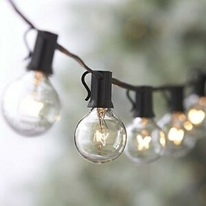 25FT-Outdoor-G40-25-Bulbs-Globe-Patio-String-Lights-Christmas-Decor-US-Shipping