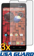 3x Clear LCD Screen Protector Guard Motorola Droid Ultra Maxx XT1080 XT1080M