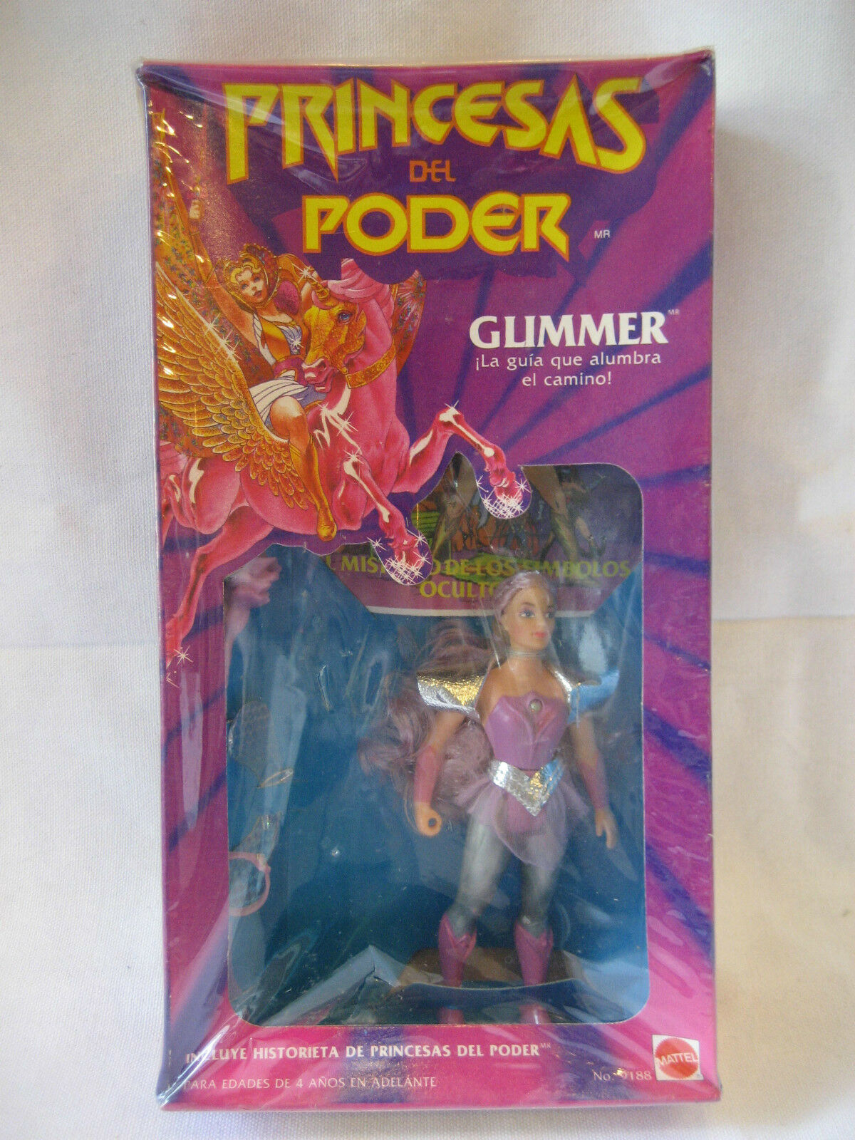Mattel Glimmer Princesa del poder México Menta en caja Princesas del poder los amos Amos Del Universo