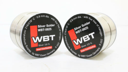 WBT 0825  73meter 0.8mm 3.8/% Ag silver Solder free shipping to worldwide 1pcs