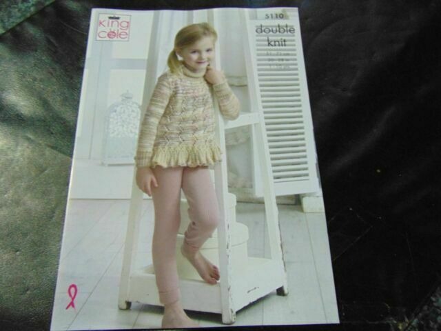 Baby DK Knitting Pattern Not the finished items KINGCOLE 5159 sizes 14-22