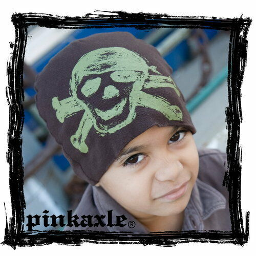 Army Green Skull Pink Axle Beanie//Hat Brown Hat