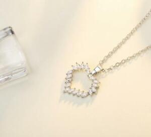 Love-Heart-Silve-White-Gold-GP-Pave-Cubic-Zirconia-Pendant-Chain-Necklace