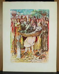 Print-Original-Signed-Ed-165-175-c1980-Judaica-Signature-IN-Determine