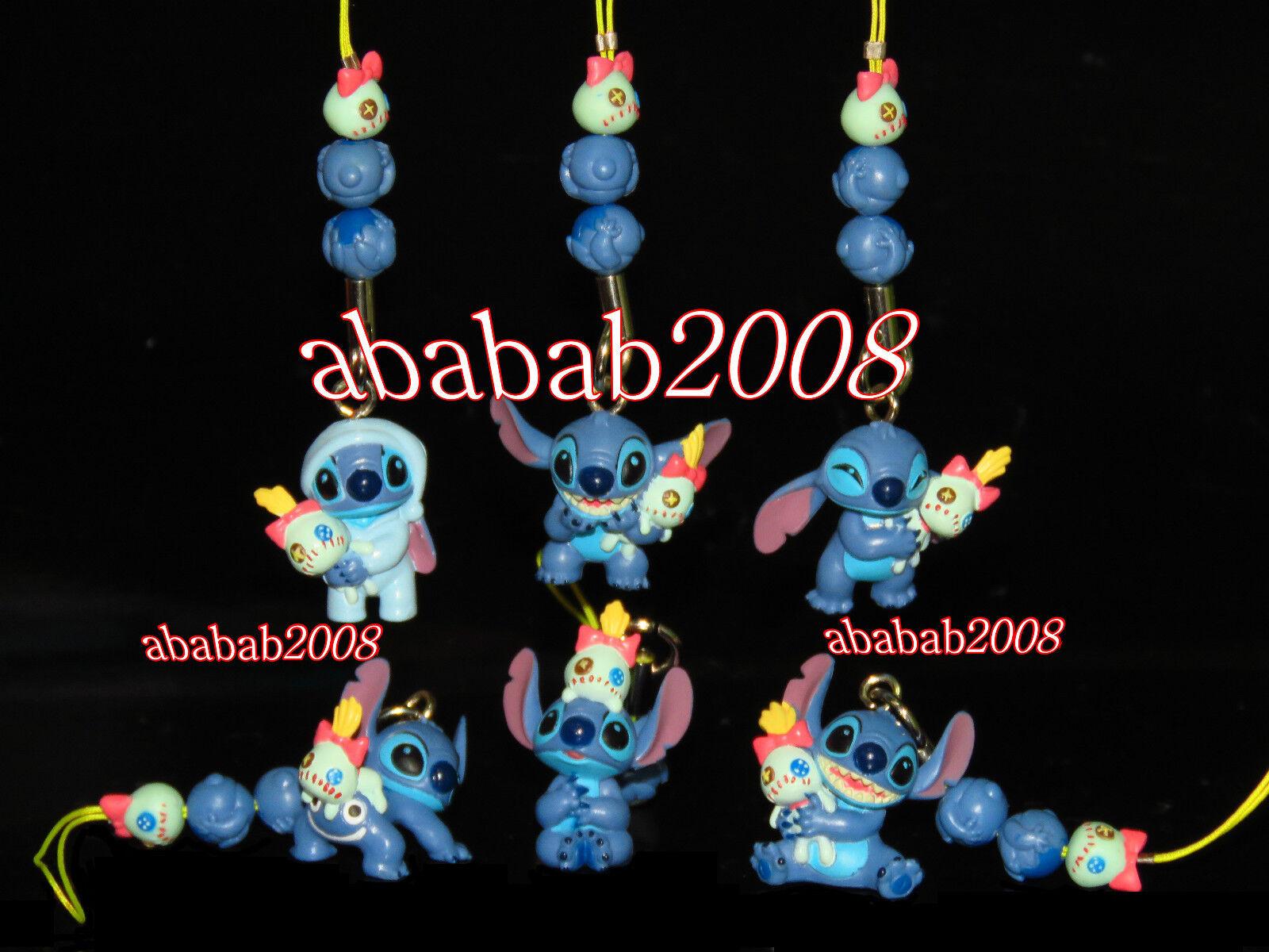 Yujin Lilo Stitch strap figure playing together gashapon (full set of 6 figures)