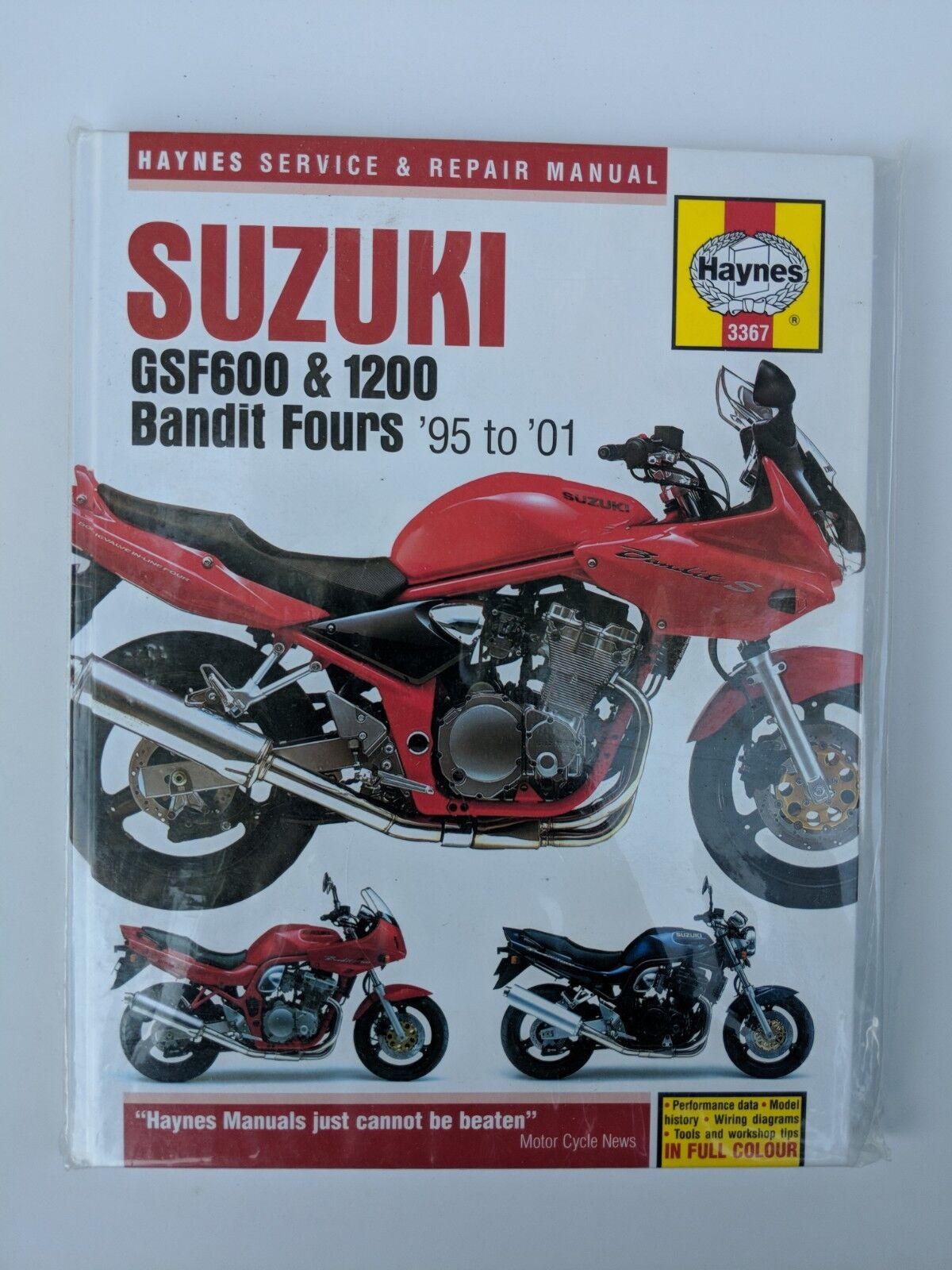 1995 to 2001 Suzuki Gsf600 & 1200 Bandit Four Service Manual Haynes 3367 |  eBay