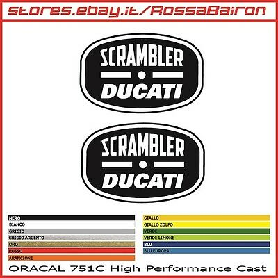 KIT 2 Klebstoffe DUCATI SCRAMBLER mm.100x36 Aufkleber Sticker PEGATINAS