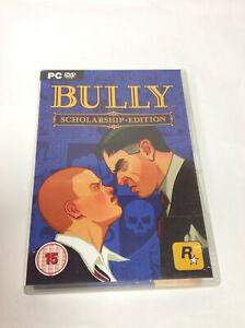 BULLY borsa di studio EDITION CON MANUALE E MAPPA-PC GAME-Gratis UK Spese Postali