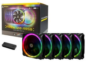 Antec Prizm 120 ARGB 5+C 120mm 5 in 1 Pack with Fan controller RGB effects Color