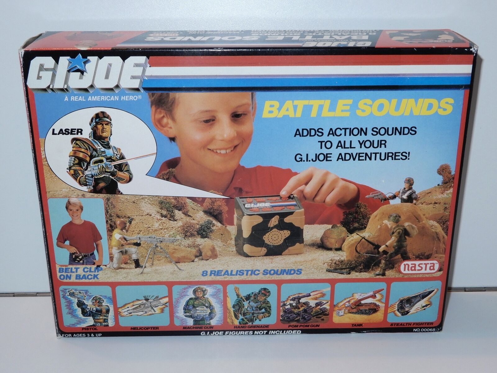 1988 GI JOE BATTLE SOUNDS MIB SEALED CONTENTS NRFB - NASTA