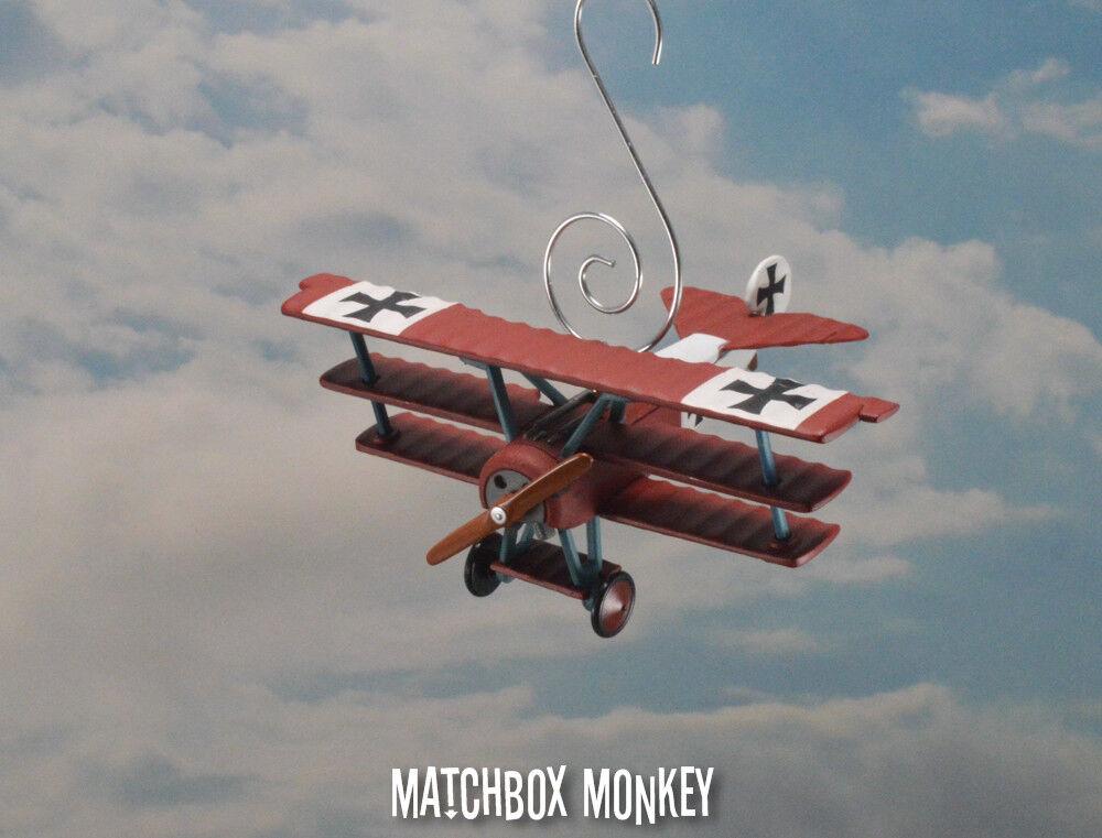 marca de lujo WWI Fokker Dr. i Triplane Navidad Adorno Adorno Adorno Barón Rojo Manfrojo Von Richthofen  precios al por mayor