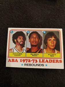 1973 Topps ABA 72-73 rebounds leaders basketball card Artis Gilmore #238 EX