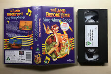 THE LAND BEFORE TIME - SING ALONG SONGS - VHS VIDEO
