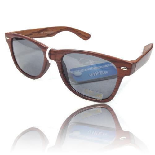 Occhiali da sole in Matt effetto legno 100/% UV 400 protection Retro Classic Woodstyle