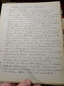 Antique-Manuscript-1800-039-s-Biblical-Research-on-Palestine-Geography-46-Pages