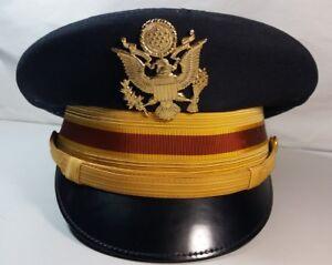 Bancroft-Vietnam-Era-US-Army-Artillery-Officer-Dress-Blue-Visor-Hat-Named