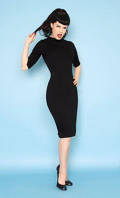 Heart of Haute USA Made Black Mid Century Mod Spy Sleeveless Pencil Dress XS-1X