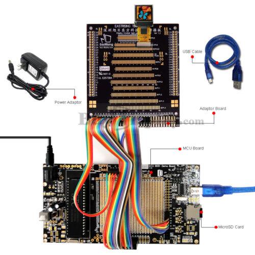 "8051 Microcontroller Development Board Kit USB Programmer for 0.6/""OLED Display"