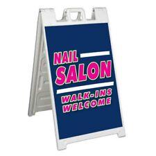 Nail Salon Walk Ins Signicade 24x36 Aframe Sidewalk Sign Banner Decal Salon Spa