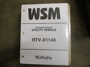 kubota rtv x1140 x 1140 utility vehicle service repair manual ebay