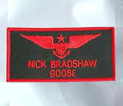 TOP GUN GOOSE NICK BRADSHAW US NAVY NAME TAG FLIGHT SUIT PATCH W/ VELCRO®  BRAND