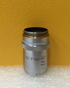 Nikon-BD-plan-40-ampliacion-40X-objetivo-de-microscopio-de-campo-oscuro-de-campo-luminoso