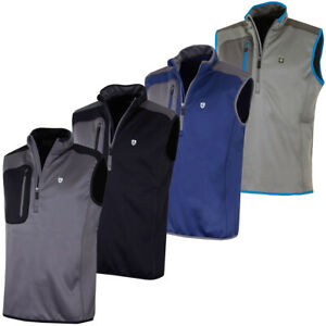 Island-Green-Mens-1-2-Zip-Bonded-Fleece-Sleeveless-Golf-Vest-Top-50-OFF-RRP