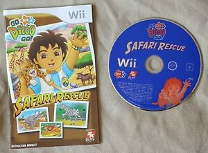 Nintendo-Wii-game-Go-Diego-Go-Safari-Rescue-Disc-Instructions-only