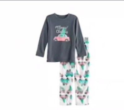 Jammies For Your Families Toddler Girl Santa Fairisle Microfleece Nightgown /& Doll Gown Pajama Set