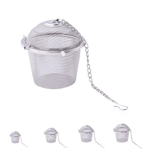 Stainless Steel Tea Locking Spice Egg Shape Ball Mesh Infuser Tea Strainer Dw