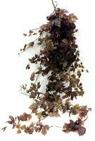 Large Grape Leaf Hanging Vine Bush. 69 L. Green, Plum. Artificial