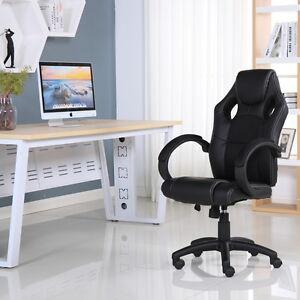 Escritorio De Oficina Ejecutiva de Cuero Sports Racing silla de estudio de computadora para juegos
