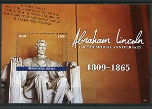 Guyana-2015-neuf-sans-charniere-Abraham-Lincoln-150e-anniversaire-commemoratif-1v-s-s-US-presidents