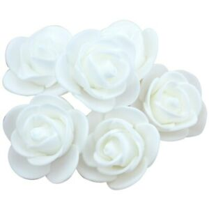 100-Hochzeit-Deko-Blumen-Schaum-Rosen-Kuenstliche-Blumen-Rosenkoepfe