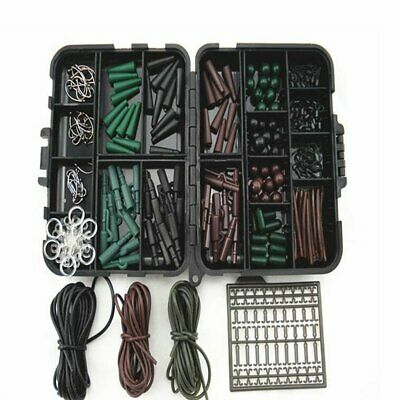 Carp Fishing Terminal End Tackle Box Weight Safety Clips Swivels chod Hair rigs