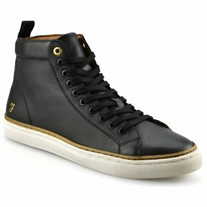 Men Trainers Farah Berry Leather Hi Top Trainers