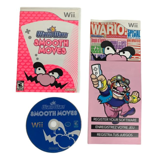 WarioWare Smooth Moves Nintendo Wii Complete Manual Registration Card Tested