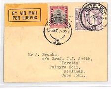 BH103 1930 SOUTH AFRICA Johannesburg Airmail Official Overprints