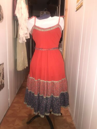 Jody T Of California Vintage 70s Hippie Dress, Boh