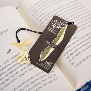Gold-Plated-Metal-Hollow-Animal-Feather-Bookmark-Book-Paper-Reading-Accessories