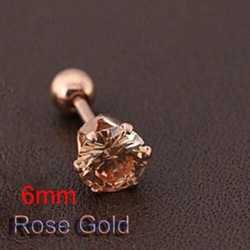 Four Claws Women Jewelry Earrings Cubic Zirconia Titanium Steel Ear Stud