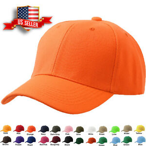 4f62179e2 Details about Plain Baseball Cap Hat Blank Strapback Polo Style Classic  Mens Wholesale Lot