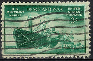 USA. 1946. 3 Cents. Peace and War (Used)