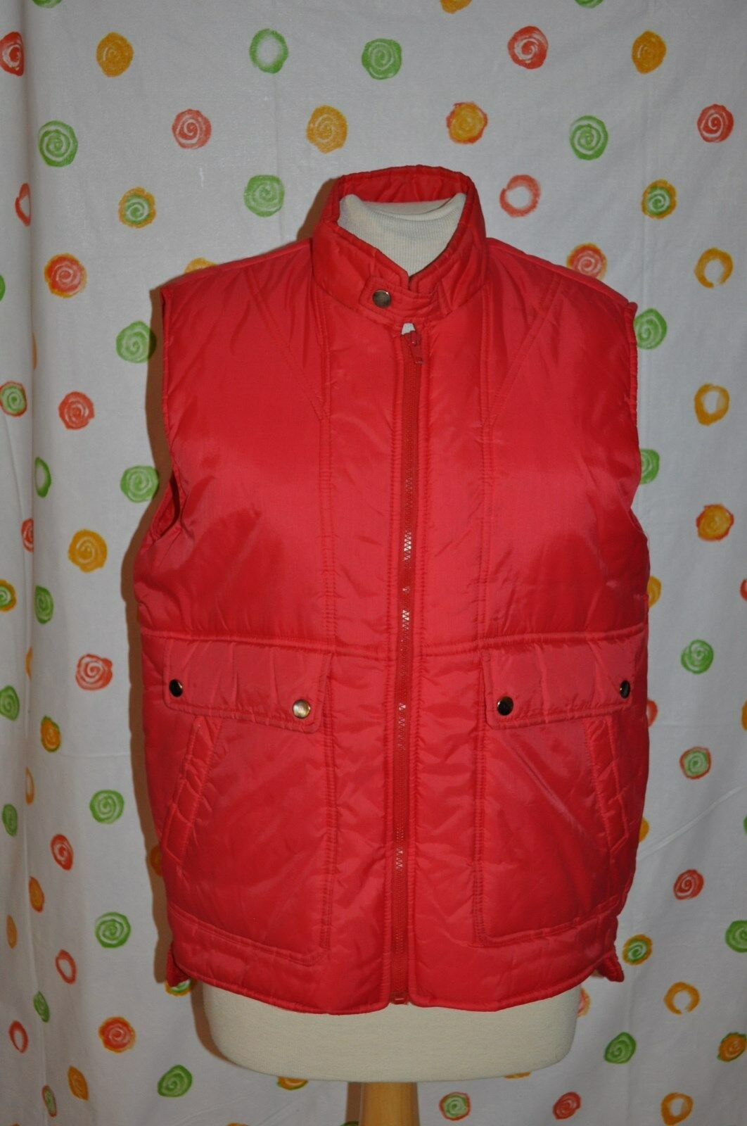 ALPINE  SKI INSULATED MENS M RED PUFF WINTER SNOW hunt ice fish Mcfly VEST EUC  a lot of surprises