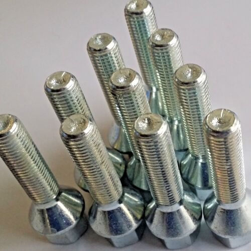 10 x M12 x 1.5 Tapered Alloy Wheel Bolts Short Extra Long Extended Thread Length