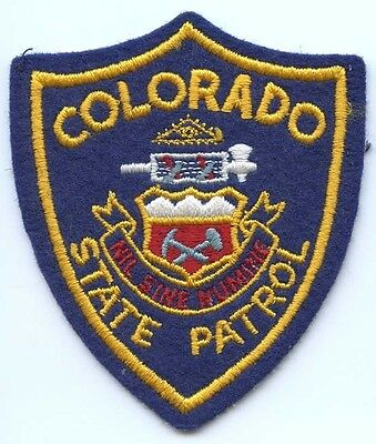 COLORADO STATE PATROL PATCH