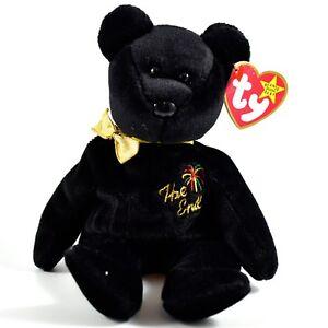 1999-TY-Beanie-Baby-Original-The-End-New-Years-Teddy-Bear-Beanbag-Plush-Toy-Doll
