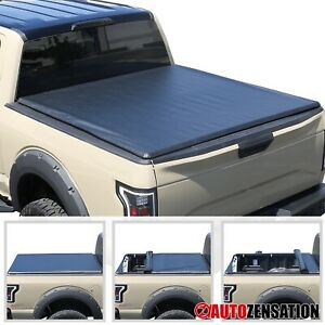 """For 2015-2019 Chevy Silverado GMC Sierra 8ft 96"""" Bed Soft Roll Up Tonneau Cover"""