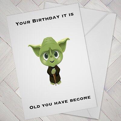 Carte d/'anniversaire Grossier Drôle Yoda meilleurs fils Star Wars adulte humour décalé #269