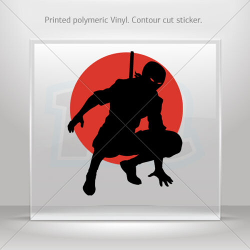 Stickers Sticker Warrior Ninja Atv Bike polymeric vinyl Garage st5 ZKX39